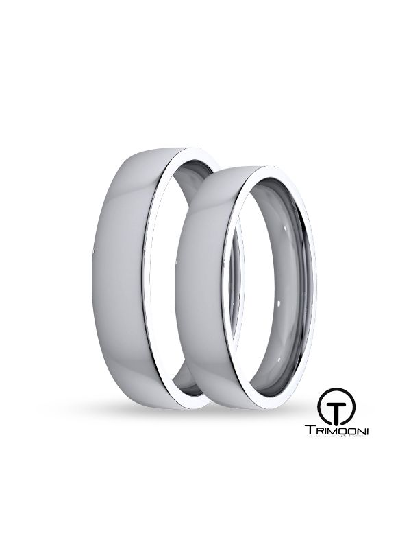 SAMPT010-  Set (pareja) de Argollas Matrimonio Platino Trimooni 4mm +Info...