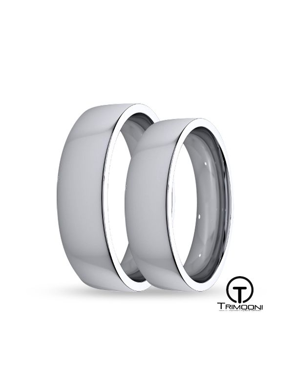 SAMPT011-  Set (pareja) de Argollas Matrimonio Platino Trimooni 5mm +Info...