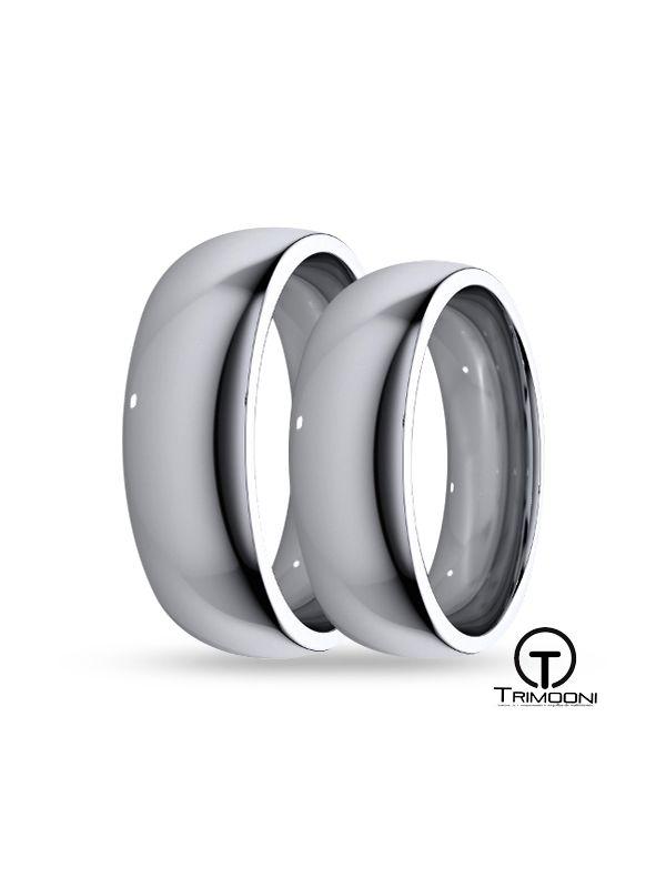 SAMPT056-  Set (pareja) de Argollas Matrimonio Platino Trimooni 5 y 6mm +Info...