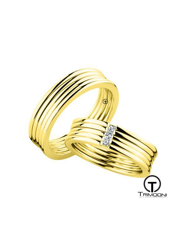 Scena_OAS-  Set (pareja) de Argollas Matrimonio Oro Amarillo Trimooni