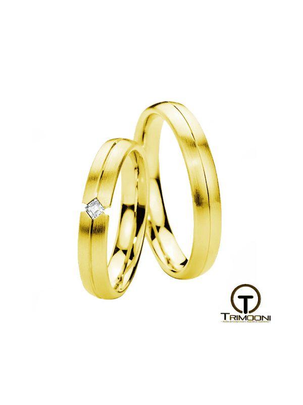 Sevil_OAS-  Set (pareja) de Argollas Matrimonio Oro Amarillo Trimooni