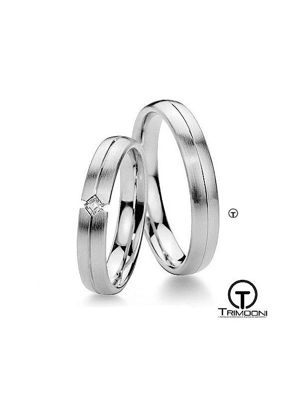 Sevil_OBS-  Set (pareja) de Argollas Matrimonio Oro Blanco Trimooni