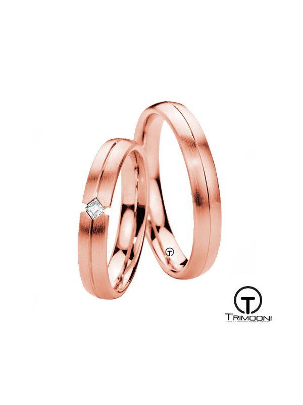 Sevil_ORS-  Set (pareja) de Argollas Matrimonio Oro Rosado Trimooni