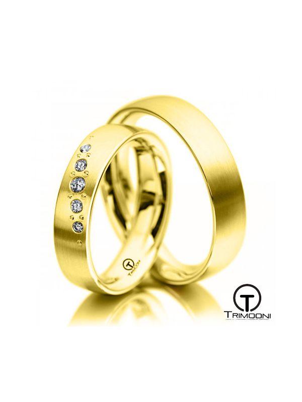 Sicili_OAS-  Set (pareja) de Argollas Matrimonio Oro Amarillo Trimooni