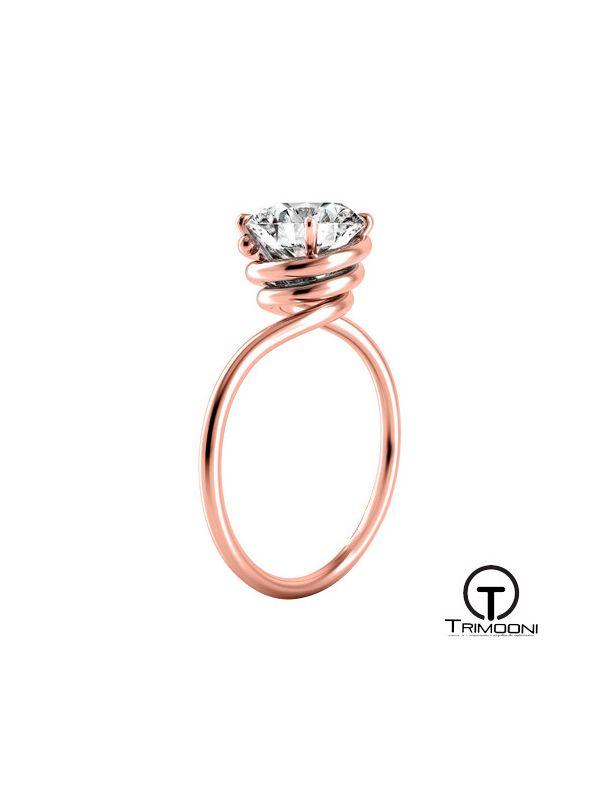 Siluetto_ACOR || Anillo de Compromiso oro rosado Trimooni