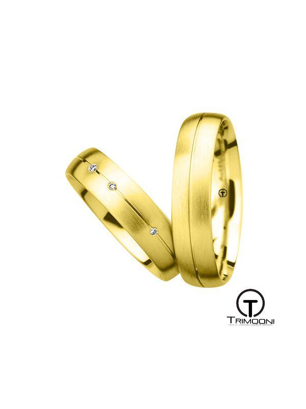 Siso_OAS-  Set (pareja) de Argollas Matrimonio Oro Amarillo Trimooni