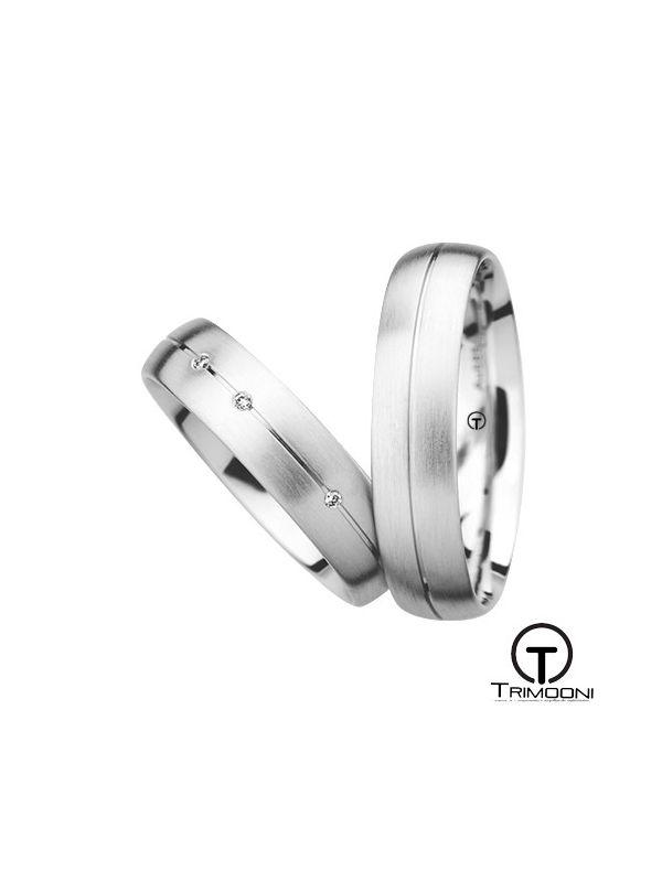 Siso_OBS-  Set (pareja) de Argollas Matrimonio Oro Blanco Trimooni