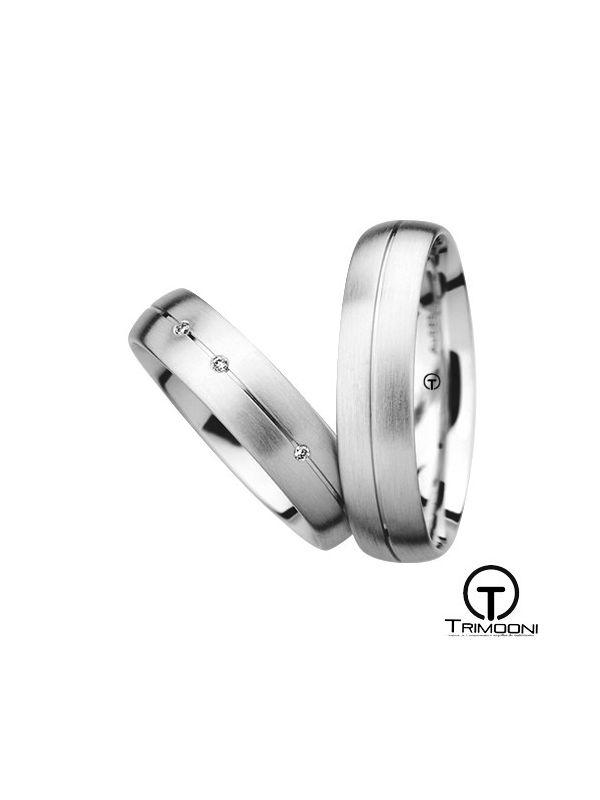 Siso_PTS-  Set (pareja) de Argollas Matrimonio Platino Trimooni