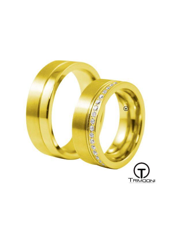 Solarte_OAS-  Set (pareja) de Argollas Matrimonio Oro Amarillo Trimooni