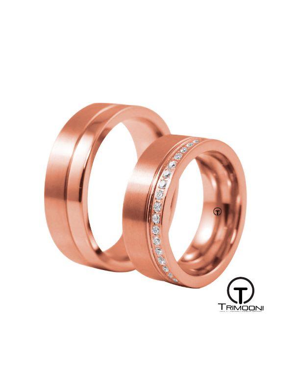 Solarte_ORS-  Set (pareja) de Argollas Matrimonio Oro Rosado Trimooni
