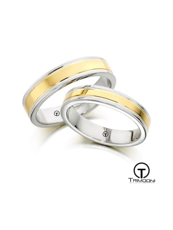 Sole_SDO-  Set (pareja) de Argollas Matrimonio Dos Oros Trimooni 4 y 3,5mm >Más Info...