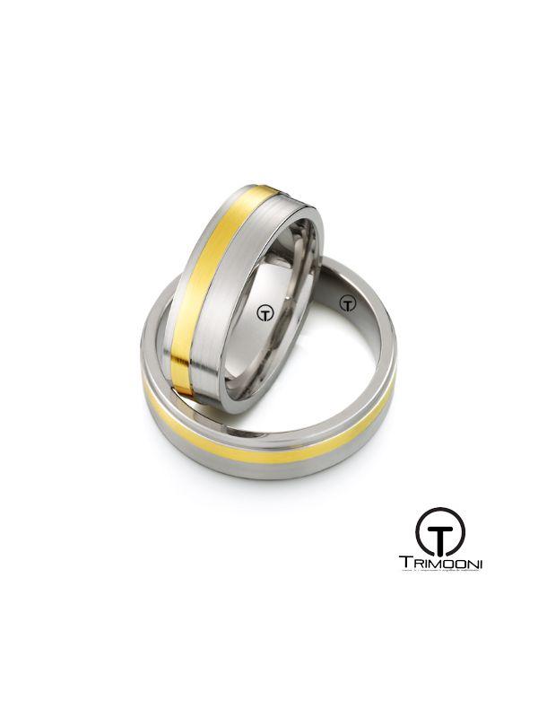 Sollievo_SDO-  Set (pareja) de Argollas Matrimonio Dos Oros Trimooni 5mm > Más Info...