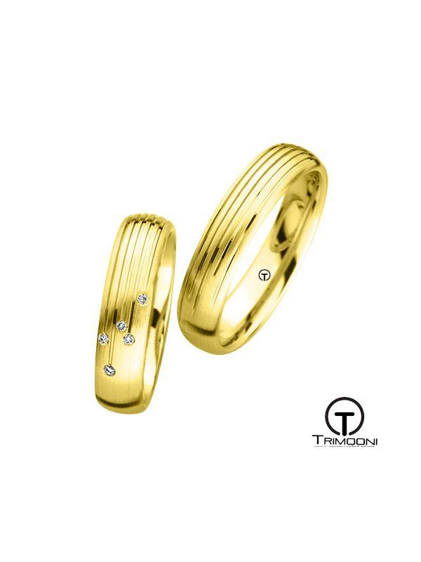 Strada_OAS-  Set (pareja) de Argollas Matrimonio Oro Amarillo Trimooni