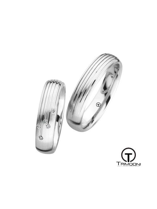 Strada_OBS-  Set (pareja) de Argollas Matrimonio Oro Blanco Trimooni