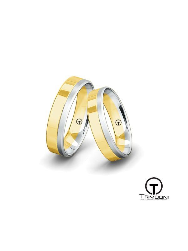 Strisce_SDO-  Set (pareja) de Argollas Matrimonio Dos Oros Trimooni 5mm >Más Info...