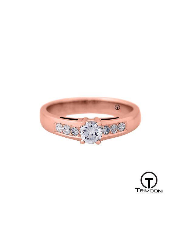 Tajh_ACOR || Anillo de Compromiso oro rosado Trimooni