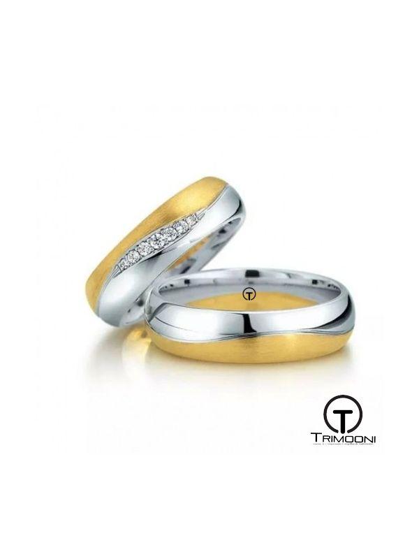 Tempo_SDO-  Set (pareja) de Argollas Matrimonio Dos Oros Trimooni 4 y 5mm >Más Info...