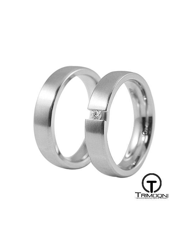 Toky_OBS-  Set (pareja) de Argollas Matrimonio Oro Blanco Trimooni
