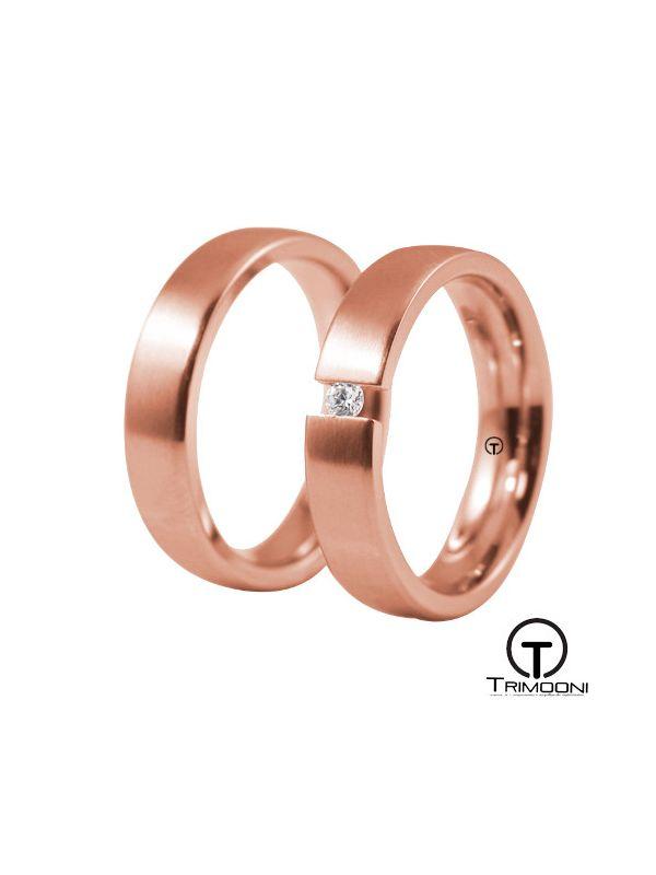 Toky_ORS-  Set (pareja) de Argollas Matrimonio Oro Rosado Trimooni