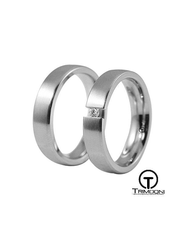 Toky_PTS-  Set (pareja) de Argollas Matrimonio Platino Trimooni