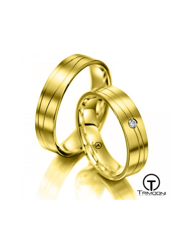 Toscana_OAS-  Set (pareja) de Argollas Matrimonio Oro Amarillo Trimooni