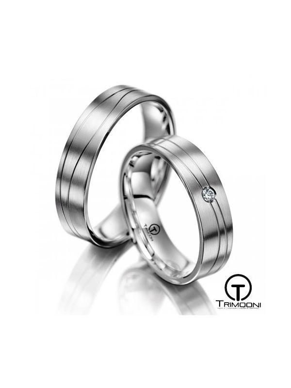 Toscana_PTS-  Set (pareja) de Argollas Matrimonio Platino Trimooni