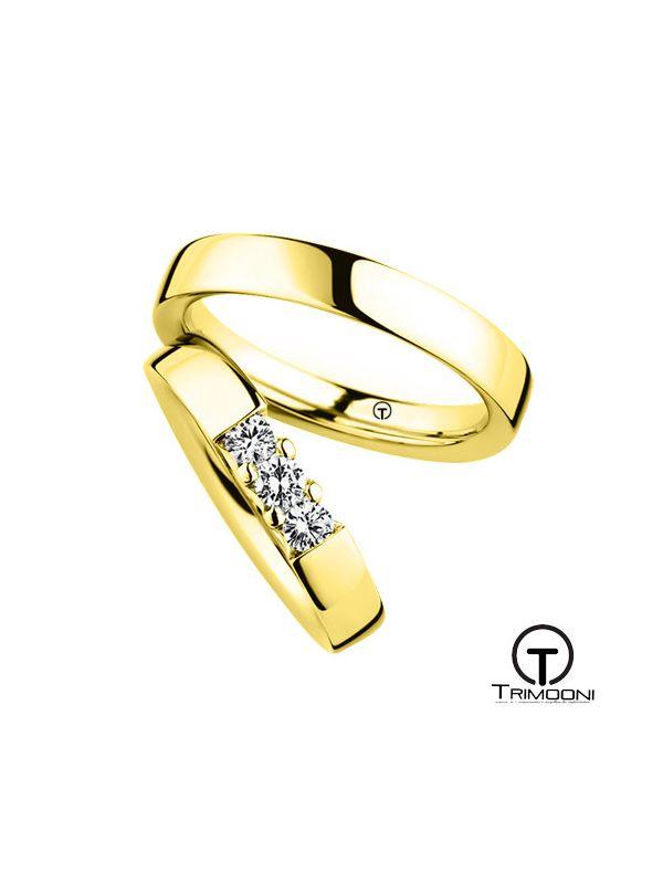 Tr3m_OAS-  Set (pareja) de Argollas Matrimonio Oro Amarillo Trimooni