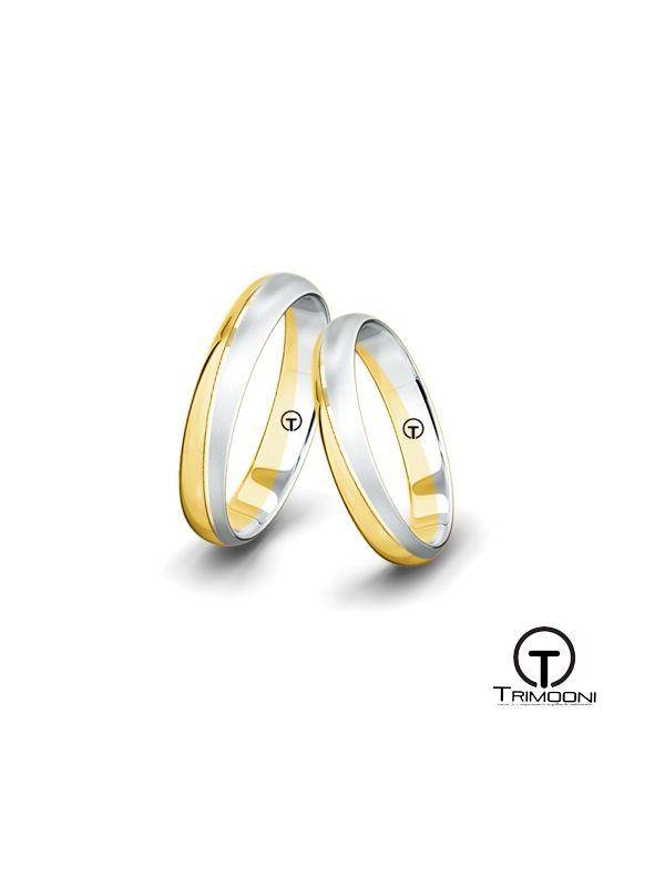 Trastevere_SDO-  Set (pareja) de Argollas Matrimonio Dos Oros Trimooni 3,5mm >Más Info...