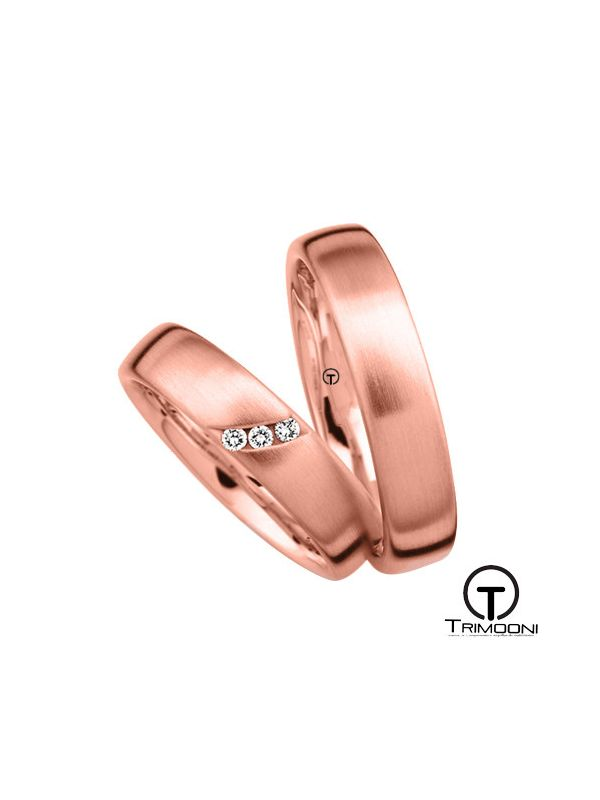 Tre_ORS-  Set (pareja) de Argollas Matrimonio Oro Rosado Trimooni