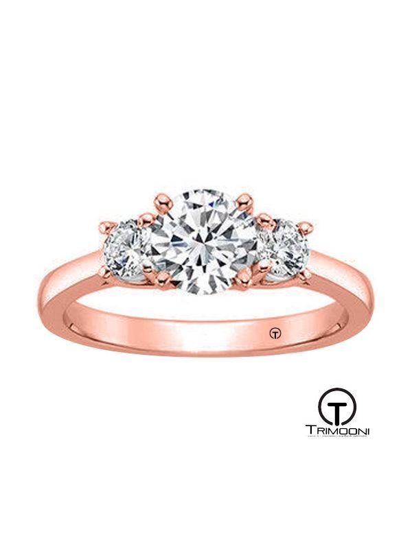 Trimada_ACOR || Anillo de Compromiso oro rosado Trimooni