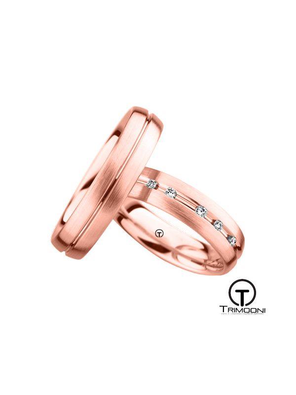 Versale_ORS-  Set (pareja) de Argollas Matrimonio Oro Rosado Trimooni