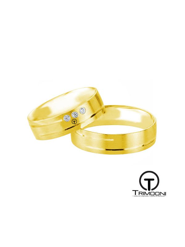 Via_OAS-  Set (pareja) de Argollas Matrimonio Oro Amarillo Trimooni