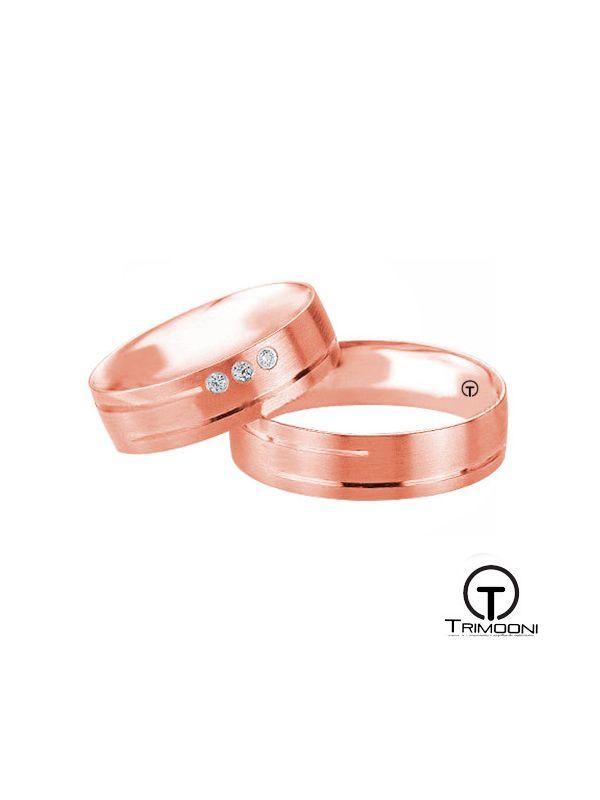 Via_ORS-  Set (pareja) de Argollas Matrimonio Oro Rosado Trimooni