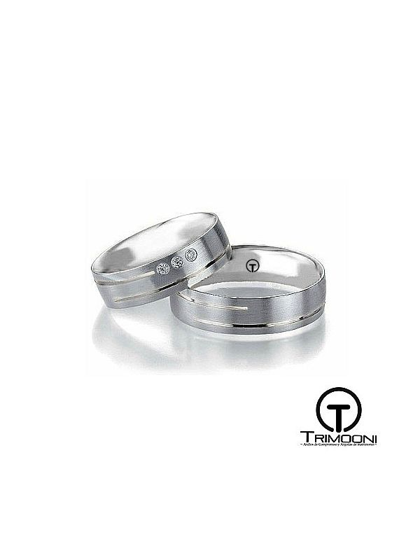 Via_PTS-  Set (pareja) de Argollas Matrimonio Platino Trimooni