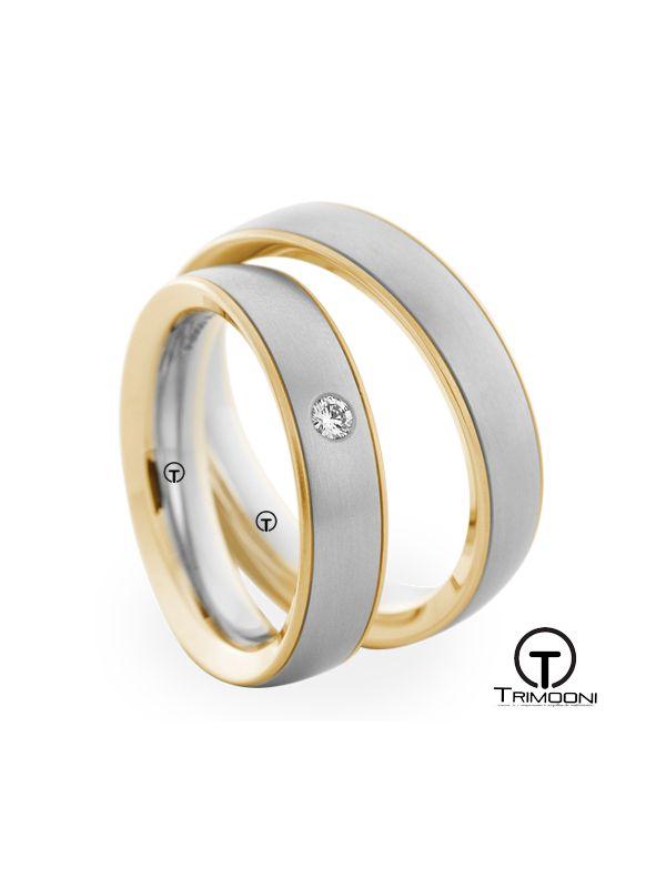 Viaggio_SDO-  Set (pareja) de Argollas Matrimonio Dos Oros Trimooni 3,5mm >Más Info...