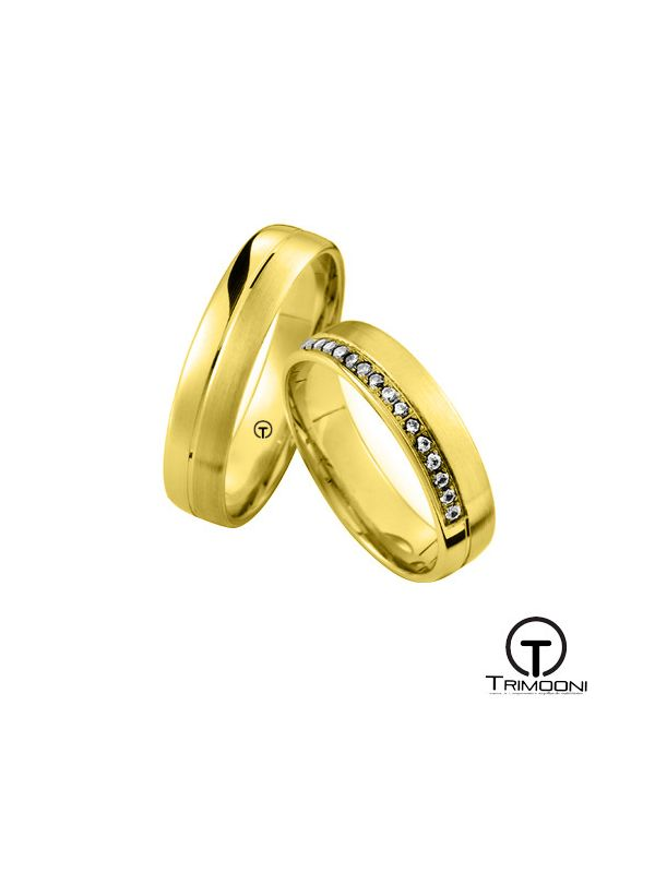 Zaretti_OAS-  Set (pareja) de Argollas Matrimonio Oro Amarillo Trimooni