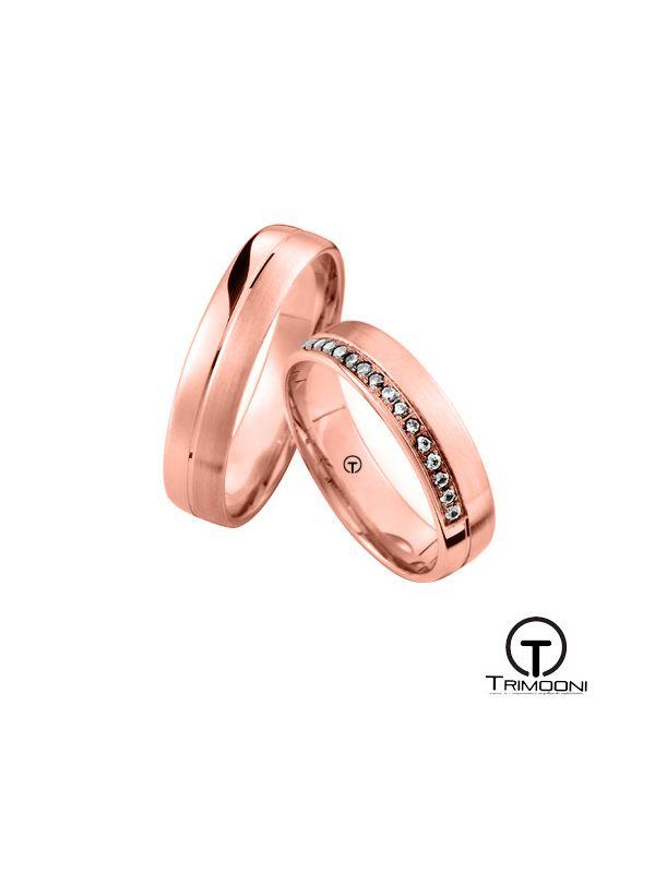 Zaretti_ORS-  Set (pareja) de Argollas Matrimonio Oro Rosado Trimooni