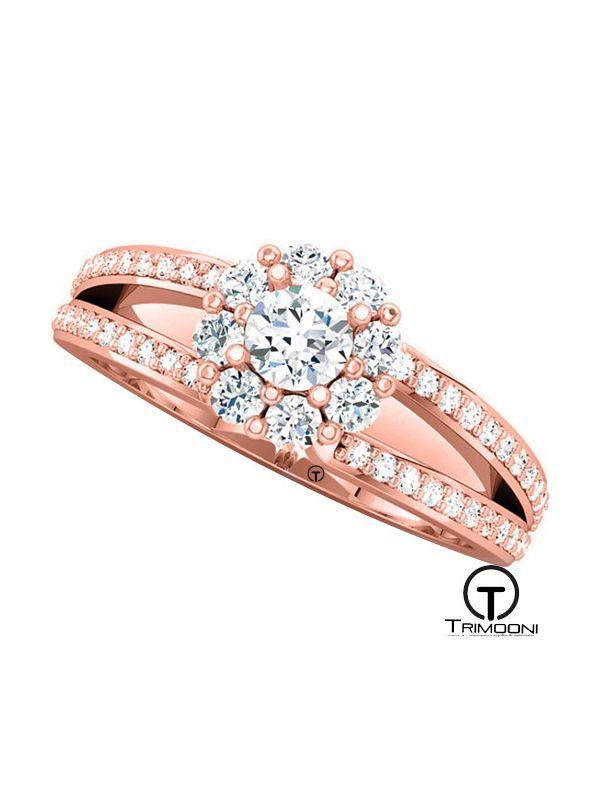 Zatini_ACOR || Anillo de Compromiso oro rosado Trimooni